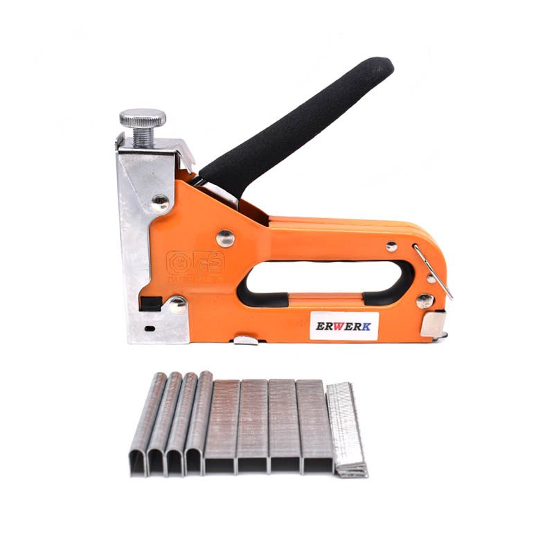3 In 1 Manual Nail Stapler Gun With 600pcs Nails For Furniture Upholstery Furniture Staple Gun Household Hand Tool