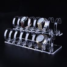 1 Set 2 Tier Fashion Helder Acryl Horloge Armband Display Rack Standhouder