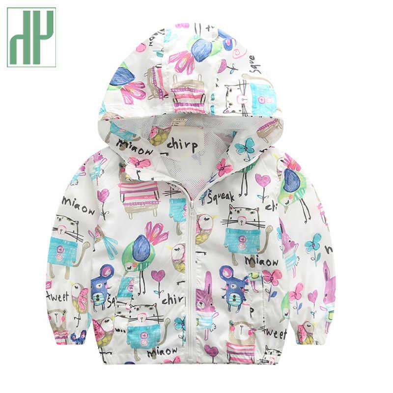 Chaqueta de los niños de primavera y otoño de los niños con capucha Ropa deportiva Bebé niñas chaquetas a prueba de viento chaquetas para 2 3 5 años