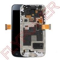 Для Samsung Galaxy S4 Mini i9190 i9192 i9195 ЖК-дисплей Экран с Сенсорный экран планшета + рамка сборки Бесплатная доставка; темно-синий