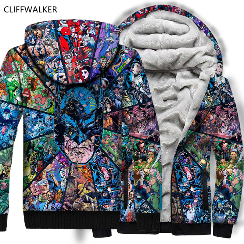 9c30a9af9 DropShipping Batman Harry Quinn 3D Hoodie Print Autumn Winter Hip Hop  Thicken Cool Sweatshirts Zipper Flannel