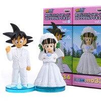 2pcs Lot Dragon Ball Z Figure Son Goku Chichi Get Married Action Figures Kunai Toy