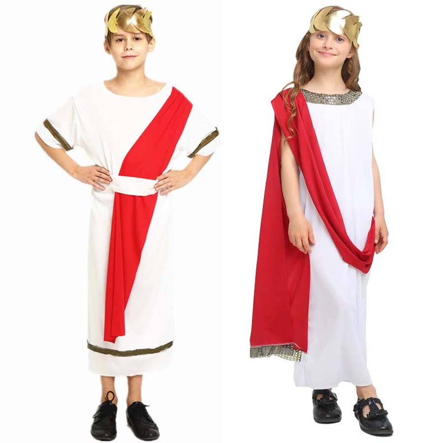 Children Kids Boy Girl Ancient Rome Costume Greece Cosplay Costumes Carnival Birthday Party Supplies Halloween Christmas Purim