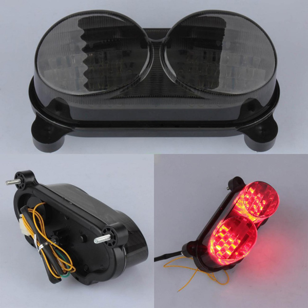 Smoke Tail Light Integrated LED Turn Signals For Kawasaki ZR7S ZX6R ZX9R ZX900 ZZR600