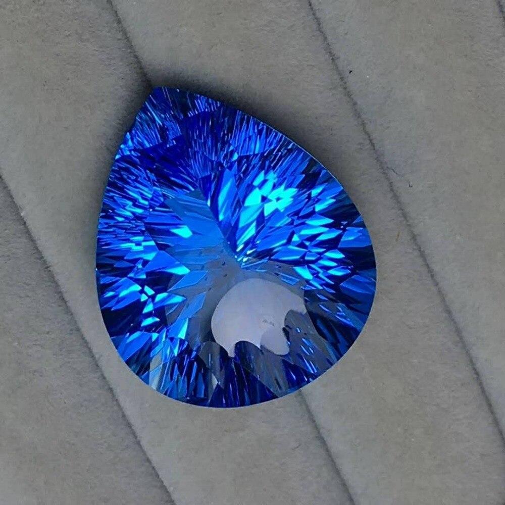 Bijoux, 54.56C naturel Topaze goutte d'eau forme gem, spécifications: 26.8x22.5x14mm, assurance de la qualité parfait pierres précieuses
