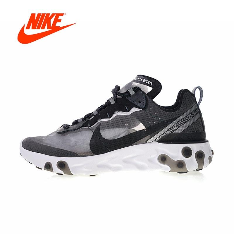 Original Nouvelle Arrivée Authentique Nike À Venir React Element 87 hommes Sport Chaussures De Course En Plein Air Baskets Bonne Qualité AQ1090-001