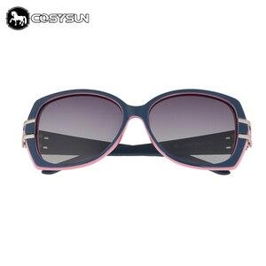 Image 4 - 2018 Luxury Women Sunglasses brand designer woman glasses Big Temple ploarized Lens Sunglasses female shades 0026