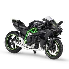 Mnemht 1:18 2016 Kawasaki H2R Motorcylce öntvénymintás modell eltávolítható alapkollekcióval Motorkerékpár modellek készítése Toy Járművek l65