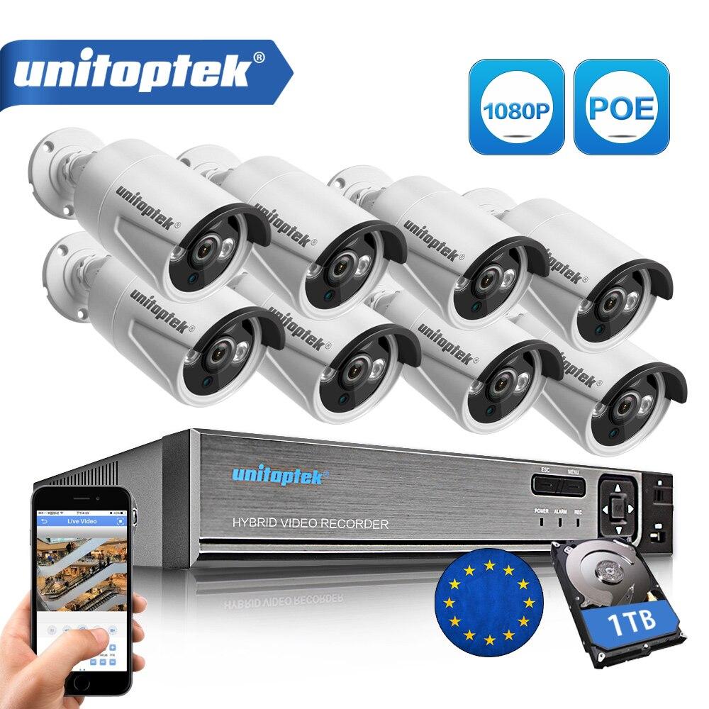 4CH/8CH 1080 P 48 В POE NVR 2.0MP 3000TVL Ночное видение POE IP Камера CCTV Системы Plug and Play комплект видеонаблюдения приложение XMEye
