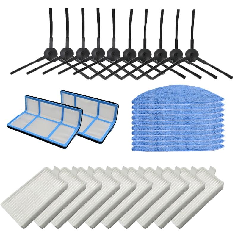 Side Brush Primary Dust filter Hepa Filter Mop pad for chuwi ilife v5 v5s V3 V3s v5 pro x5 robot vacuum cleaner Parts Vacuum Cleaner Parts     - title=