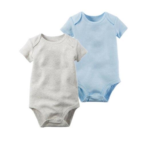 2 Teile/los Body Baby Kurzarm Kleidung Neugeborenes Baby Roupas Para Menina Baumwolle Baby Kostüm Reine Farbe Niedlichen Baby Tragen Gute QualitäT