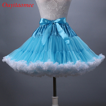 2017 Short Petticoat Woman Underskirt soft Tulle Bridal Petticoat Ruffled Knee Length Colorfulle Новые приключения вызывают запасы