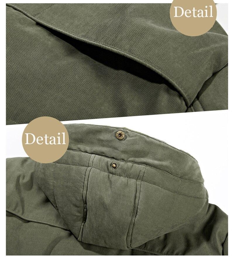 High Quality Men's Windbreaker Fleece Cotton Winter Jacket 12