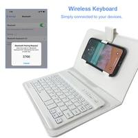 Luxury Universal PU Flip Phone Case With Wireless Keyboard For IPhone X SAMSUNG Redmi Mate 10