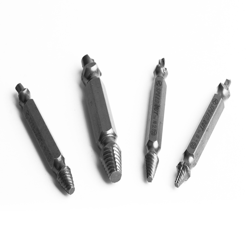 Drill Bits Hand & Power Tool Accessories Reasonable 4pcs/set Screw Extractor Drill Bits Damaged Screw Guide Set Broken Damaged Bolt Remover Double Ended Extractor High Quality
