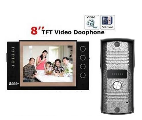 SMTVDP New Arrival Home Security 8Video Door Phone 700TVLine HD Camera with Waterproof Cover,8GB Card For Recording or Photos