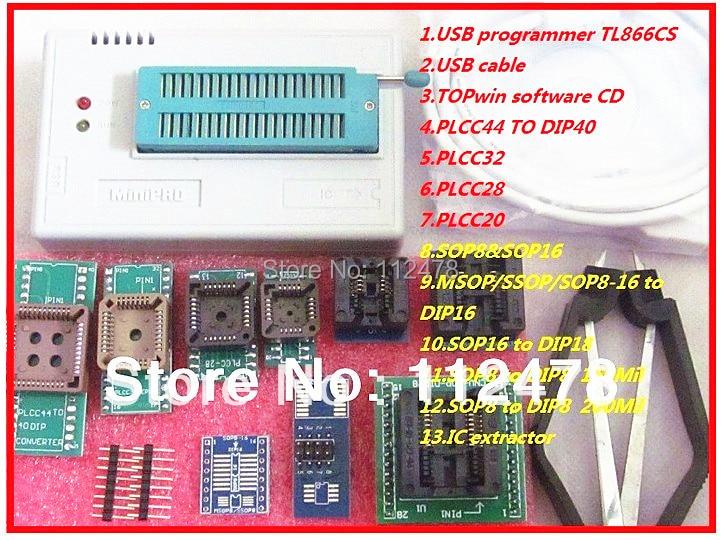 все цены на Free shipping 2018 XGECU Russian&English Software V8.05 MiniPro TL866CS&TL866A&TL866II Plus BIOS USB Universal Programmer+10ICs