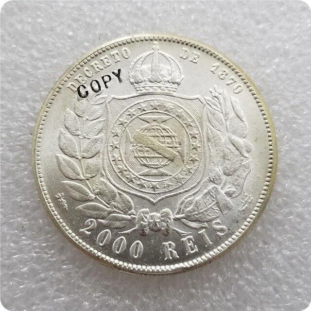 1886 BRASILIEN 2000 REIS KOPIE gedenkmünzen-replik münzen medaille münzen sammlerstücke