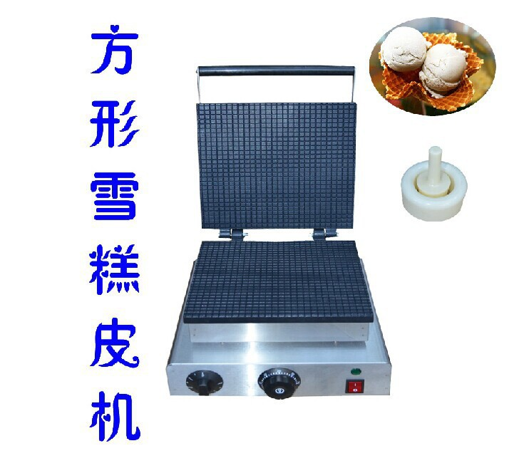 Electric Square Egg Roll Machine Cone Baker Ice Cream Cone Maker Egg Roll Maker square pan rolled fried ice cream making machine snack machinery