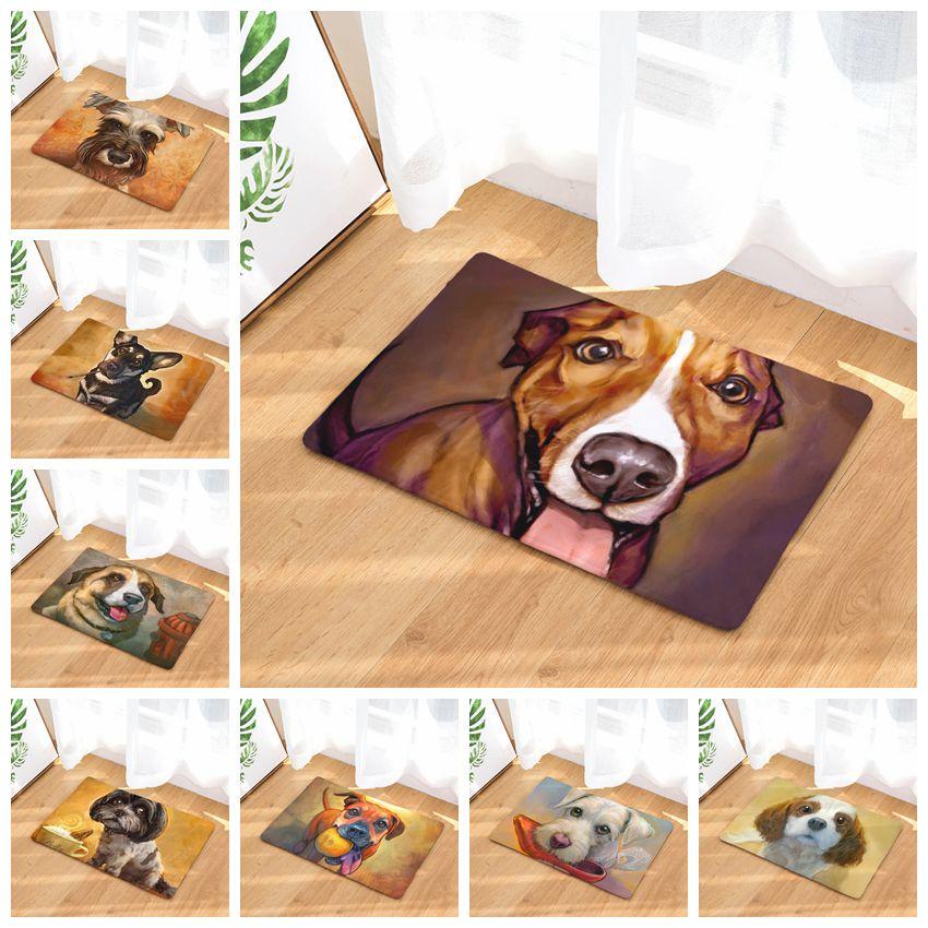 Cute Dog Pattern Door Mats Bathroom Mats Funny Indoor Outdoor Home Decor Enterance Floor Mats