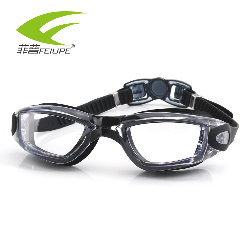 FEIUPE Myopia Swim Goggles Silicone Swimming Glasses Anti Fog UV  Optical Waterproof  Men Women Adults Transparent Lens Eye'wear