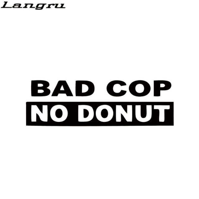Langru bad cop no donut decal funny interesting car styling truck vinyl sticker racing window decal