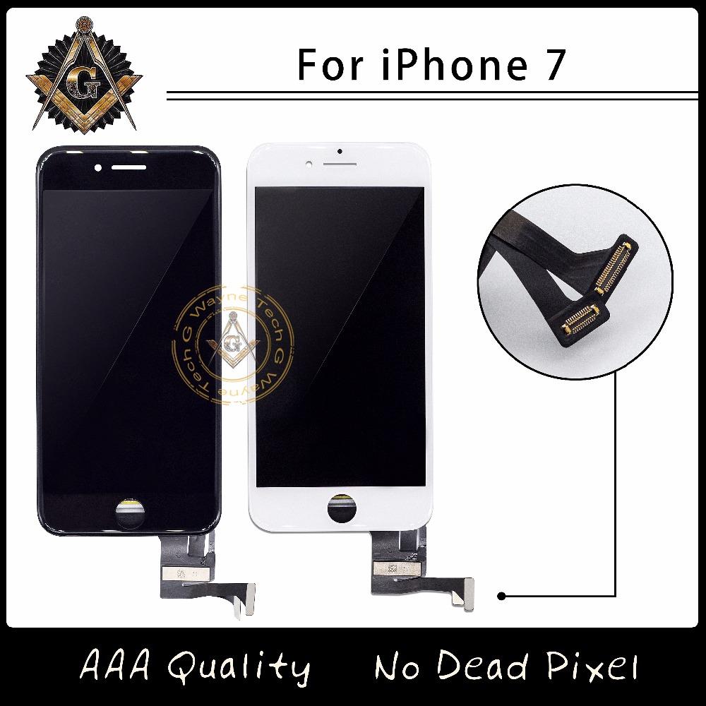 Prix pour 2 PCS/LOT TM Qualité LCD Pas Dead Pixel Pour iPhone 7 7G Affichage Tactile Digitizer Assemblée Livraison Gratuite DHL