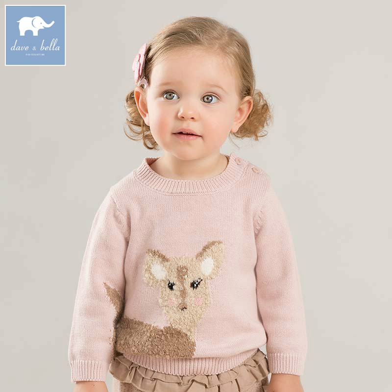DB8256 dave bella autumn knitted sweater infant baby girls long sleeve pullover kids toddler tops children knitted sweater ryeon winter autumn sweater dresses big size women turtleneck long sleeve loose casual grey sexy pullover knitted sweater jumper