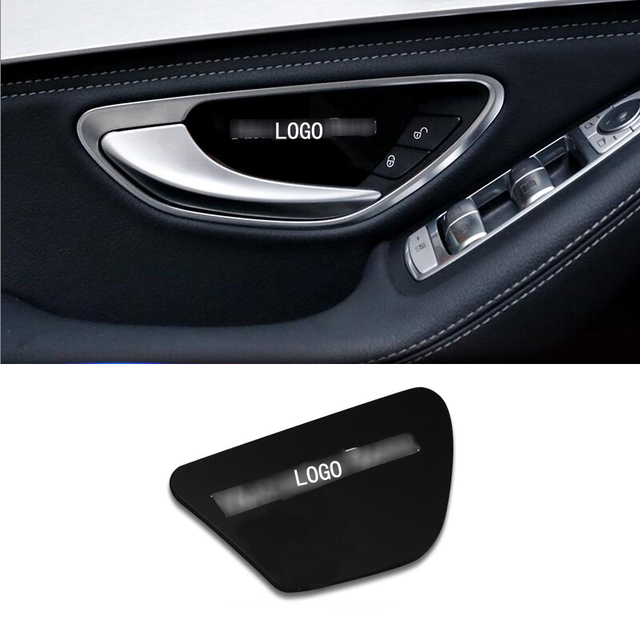 Charming Car Styling Inner Door Inside Door Bowl Panel Wrist Cover Trim Stickers For  Mercedes Benz C E