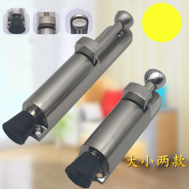 Charmant Heavy Duty Door Holder Zinc Alloy Soft Rubber Foot Spring Loaded Easily  Step On Door