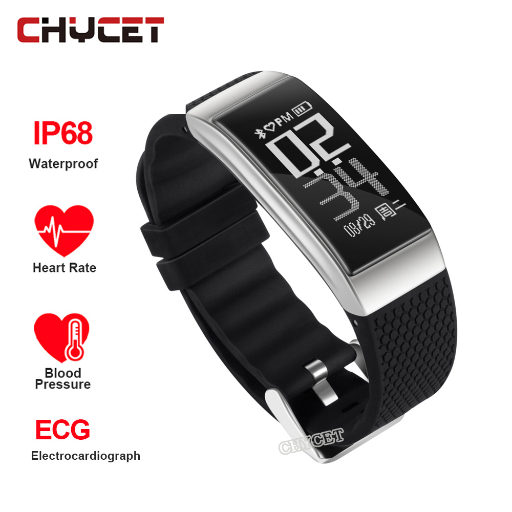 Smart Bracelet Waterproof IP68 ECG Heart Rate Blood Pressure Monitor Pedometer Calorie Fitness track Wristband for IOS Android цена и фото