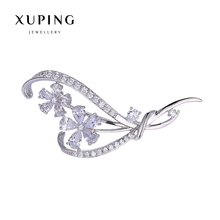 Xuping Elegant Synthetic CZ Diverse Styles Pearl Brooch for Mother's day Gift 2017 New 00086-4#