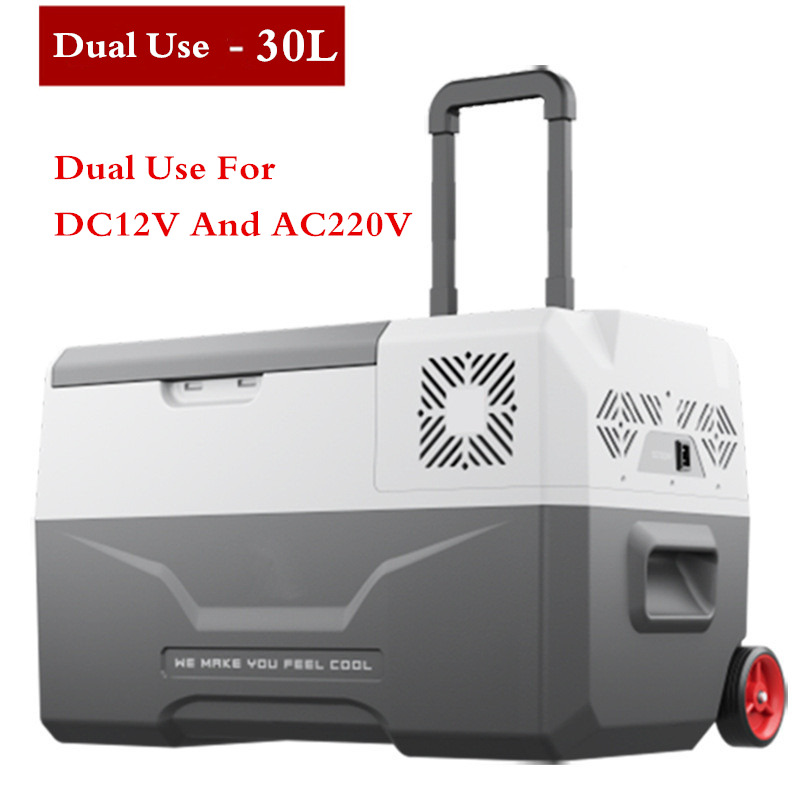 цена на -20 Degrees Freeze Fridge 30L High Quality 12V/24V/220V Portable Compressor Car Refrigerator Multi-Function Home Cooler Freezer