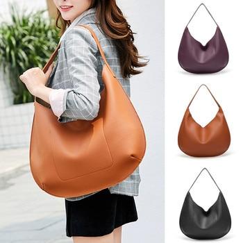 2018 New Arrival Ladies Hand Bag Women Leather Handbag Leather Casual Tote Bag Bolsas Femininas Female Shoulder Bag Bolsos #B30 grande bolsas femininas de couro