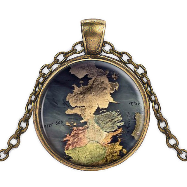 Game Of Thrones Map Pendant Jewelry