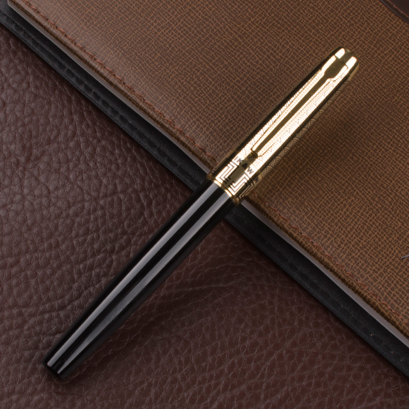 DIKA WEN quality gold plated cap ultralarge fountain pen. stationery. Ink pen. Office Pen