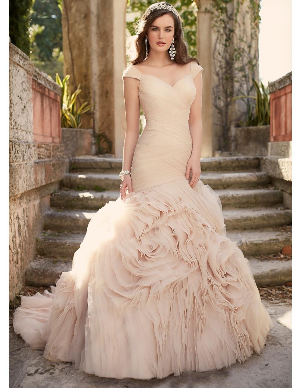 Mermaid pink wedding dresses exclusive photo