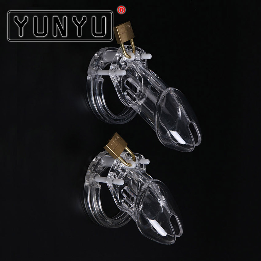 1 Set Plastic Male Chastity Device With Size Penis Ring Cock Cages Ring Virginity Lock Belt Sex Toy for Men Penis Sleeve steel male chastity device catheter cock cages men s virginity lock penis ring conjoined anal plug adult sex toys 5 size