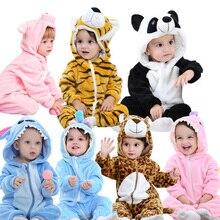 Flannel Baby Rompers Rabbit Cotton Boys Girls Animal Spring Winter Stitch Babys Sets Kigurumi Newborn Clothes 2019