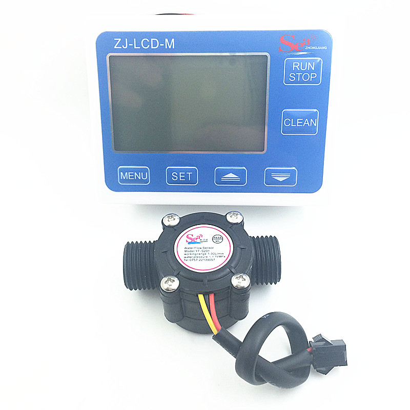 YF-S201 G1/2 Water Flow meter Sensor flowmeter caudalimetr counter indicator + digital LCD water flow system 1-30L/min 3-24V us208mt flow totalizer usn hs10pa 0 5 10l min 10mm od flow meter and alarmer totalizer frequency counter hall water flow sensor