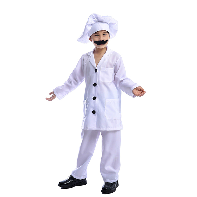 791fa4b99d049 Fun Child Chef Boys Job Cook Cosplay Uniform Ideal For Carnival Fancy Dress  Costume Party