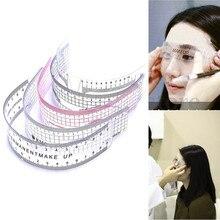 1Pc Hot Sale Reusable Semi Permanent Eyebrow Ruler Professional Women Eye Brow Measure Tool Makeup Microblading Calliper Stencil