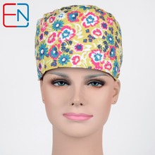 New Matin long hair surgical cap  for long hair doctors and nurses 100% cotton Hong yan