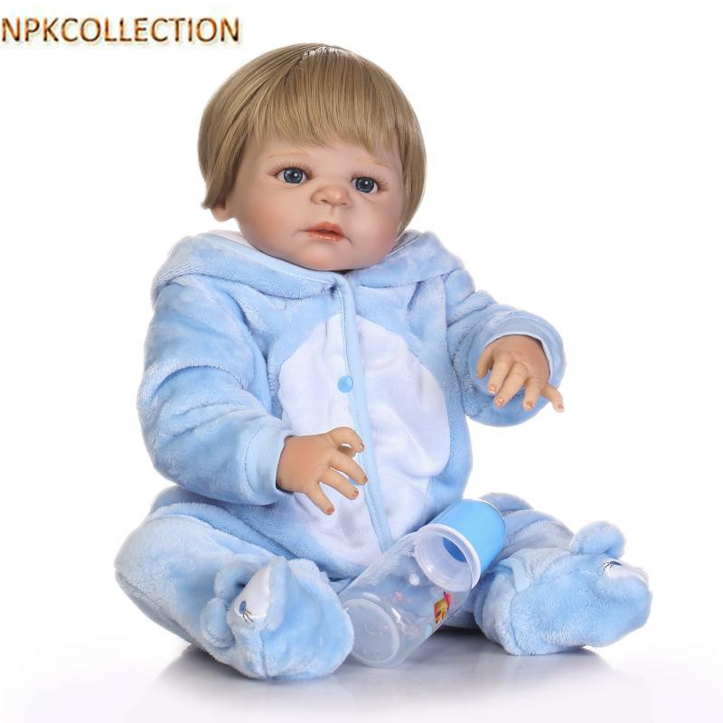 NPKCOLLECTION 52CM Silicone Reborn Dolls Realistic Doll Babies Bonecas Boy Baby Alive Reborn Doll With Clothes Kids Xmas Gift npkcollection 52cm full body silicone reborn dolls babies alive bonecas newborn girl baby doll toys for kids christmas xmas gift