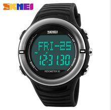 Step Counter Watch Pedometro Contador De Calorias Pulse Heart Rate Watch Pedometers For Running Free Shipping