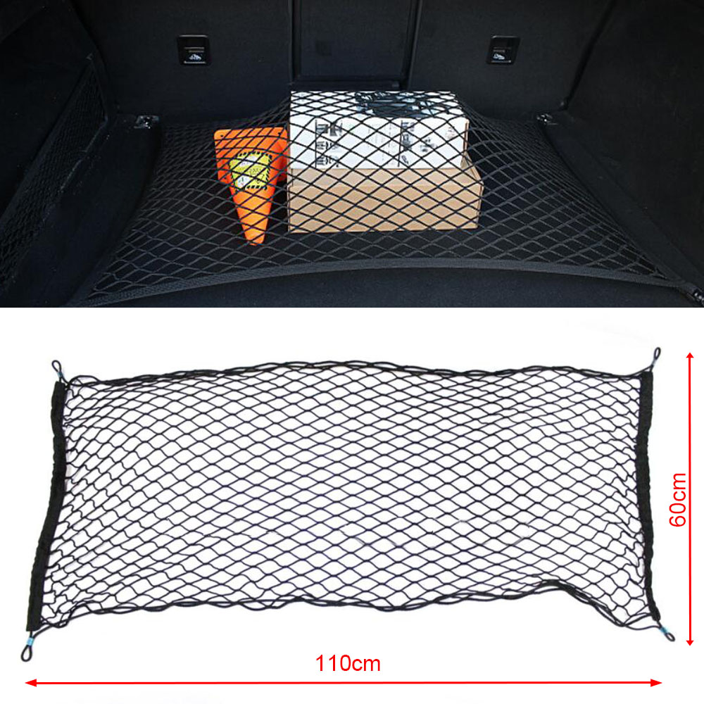 Image 2 - Car Auto Trunk Mesh Organizer 110x60cm Luggage Stuff Cargo Goods Fix Storage Holder Net Universal Accessories-in Stowing Tidying from Automobiles & Motorcycles
