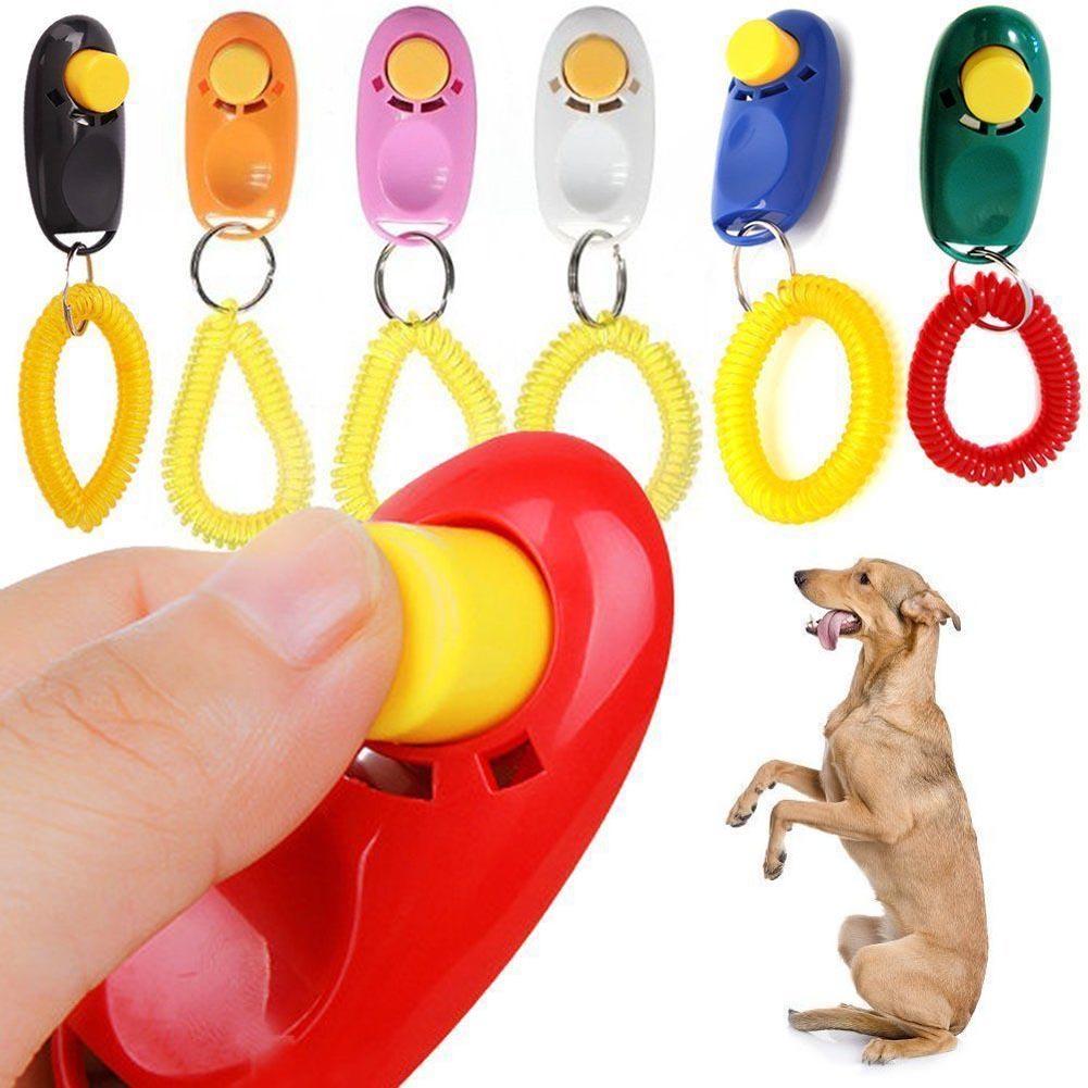 Populair Merk 1 St Hond Pet Klik Clicker Training Trainer Hulp Wrist Strap Kleuren Kiezen Willekeurig Sterke Weerstand Tegen Hitte En Hard Dragen