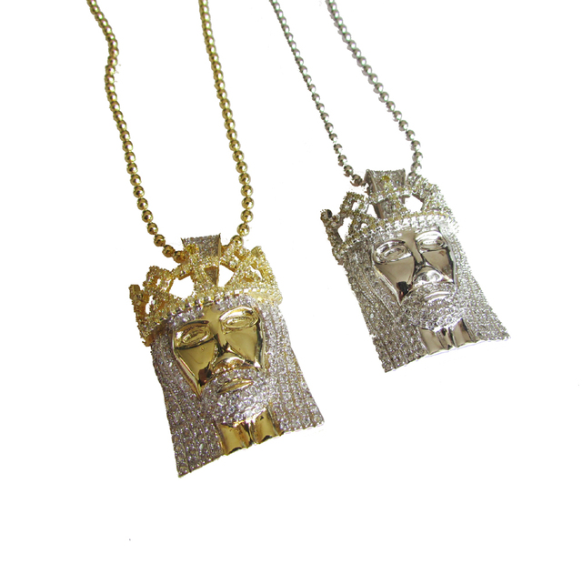2016 new arrived high quality hip hop bling bling jewelry,iced out micro pave cz jesus piece fashion necklace for men