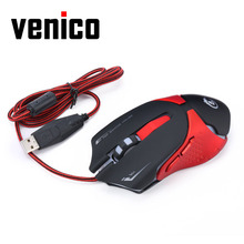 Optical Wired Mouse 6 Buttons Adjustable 3200DPI Colorful LED Light Glare Gaming Mouse PC Mice for USB Computer Laptop Gamer
