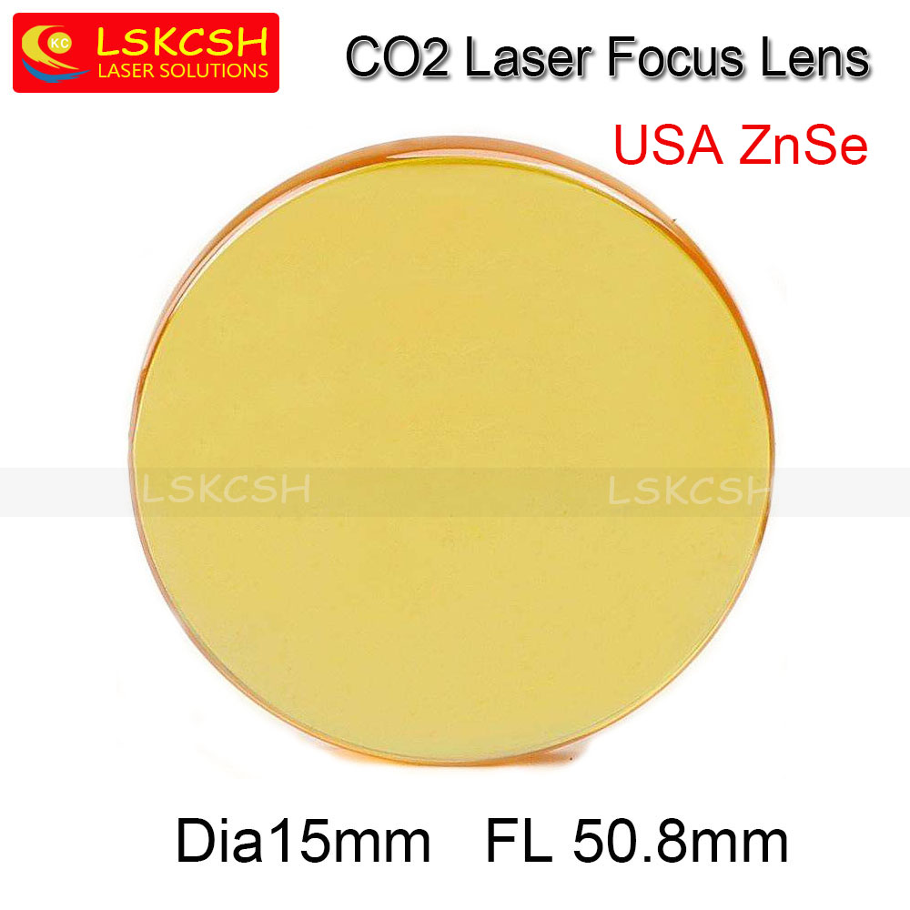 Free Shipping High Quality USA ZnSe CO2 Laser Focus Lens Dia.15mm Focal Length 50.8mm For Trotec Speedy 100/GCC Co2 Laser machin free shipping cn znse co2 laser focus lens diameter 20mm focal length 101 6mm for co2 laser cutting and engraving machine